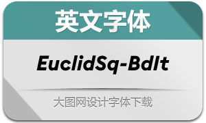 EuclidSquare-BoldItalic(英文字体)