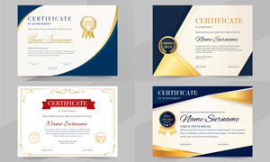 多种多样的授权书与证书等素材V190