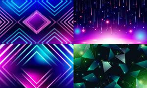 几何图形抽象背景创意矢量素材集V07