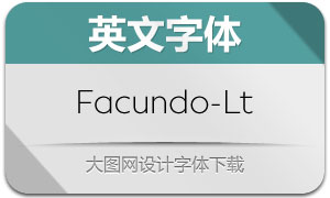 Facundo-Light(英文字体)
