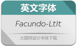 Facundo-LightItalic(英文字体)