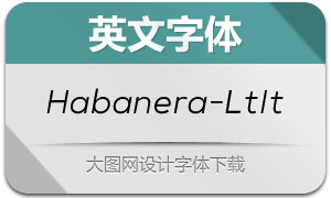 Habanera-LightItalic(英文字体)