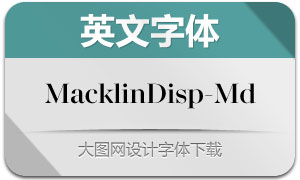 MacklinDisplay-Md(英文字体)