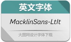MacklinSans-LightItalic(英文字体)