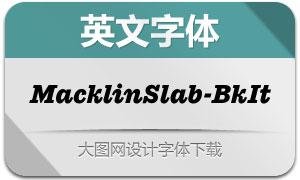 MacklinSlab-BlackItalic(英文字体)