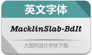 MacklinSlab-BoldItalic(英文字体)