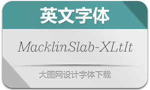 MacklinSlab-ExtraLightIt(英文字体)