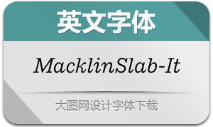 MacklinSlab-Italic(英文字体)