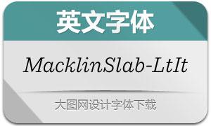 MacklinSlab-LightItalic(英文字体)