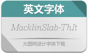 MacklinSlab-ThinItalic(英文字体)