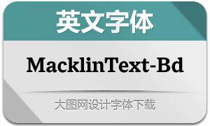 MacklinText-Bold(英文字体)