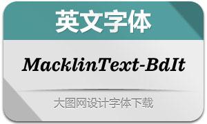 MacklinText-BoldItalic(英文字体)