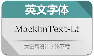 MacklinText-Light(英文字体)