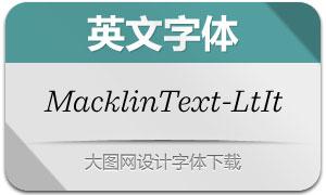 MacklinText-LightItalic(с╒ндвжСw)