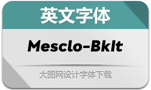 Mesclo-BlackItalic(英文字体)