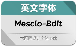 Mesclo-BoldItalic(英文字体)