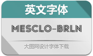 Mesclo-Borderline(英文字体)