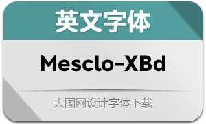 Mesclo-ExtraBold( 英文字体)