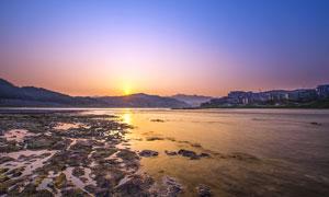 夕阳下的重庆嘉陵江美景摄影图片