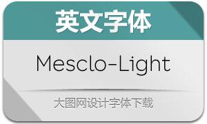 Mesclo-Light(英文字体)
