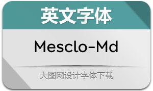 Mesclo-Medium(英文字体)