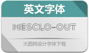 Mesclo-Outline(英文字体)
