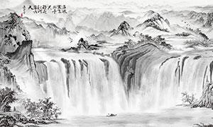 中國風山水畫國畫設計圖片