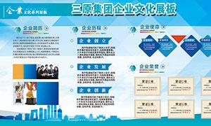 企业文化发展历程宣传栏设计PSD素材