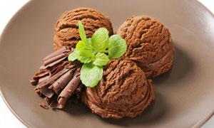 巧克力口味冰淇淋特写摄影高清图片