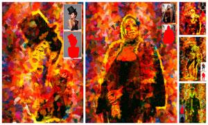 人像抽象艺术涂抹绘画效果PS动作