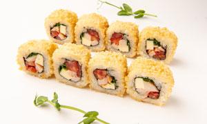 精心摆放好的美味寿司摄影高清图片
