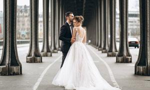 婚纱美女西装男士人物摄影高清图片