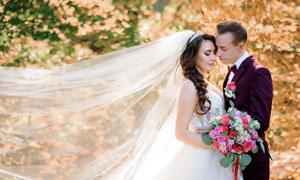 恩爱情侣人物婚纱外景摄影高清图片
