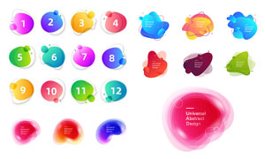 炫彩创意不规则的图形设计矢量素材