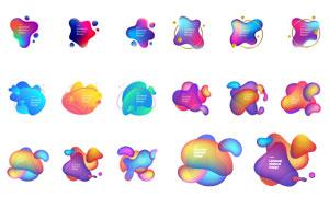 炫酷缤纷多彩几何图形创意矢量素材