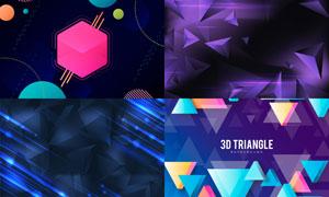 几何图形抽象背景创意矢量素材集V85