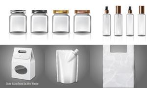紙盒手提袋等包裝設計主題矢量素材