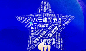 创意的81建军节宣传海报PSD素材