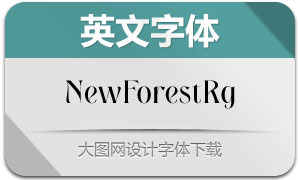 NewForest-Regular(英文字体)