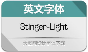 Stinger-Light(英文字体)