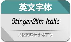 StingerSlim-Italic(英文字体)