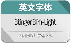 StingerSlim-Light(英文字体)