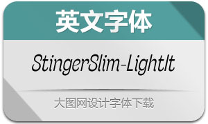 StingerSlim-LightItalic(英文字体)