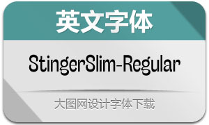 StingerSlim-Regular(英文字体)