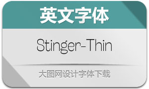 Stinger-Thin(英文字体)