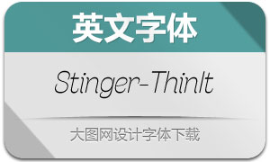 Stinger-ThinItalic(英文字体)