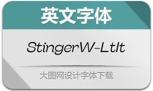 StingerWide-LightItalic(英文字体)