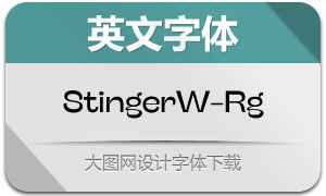 StingerWide-Regular(英文字体)