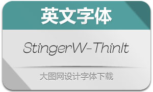 StingerWide-ThinItalic(英文字体)