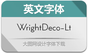 WrightDeco-Light(英文字体)